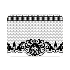 Transparent Lace Decoration Double Sided Flano Blanket (mini)