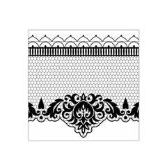 Transparent Lace Decoration Satin Bandana Scarf