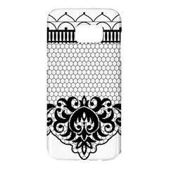 Transparent Lace Decoration Samsung Galaxy S7 Edge Hardshell Case