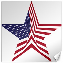 A Star With An American Flag Pattern Canvas 20  X 20   by Nexatart