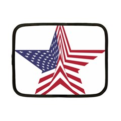 A Star With An American Flag Pattern Netbook Case (small)  by Nexatart