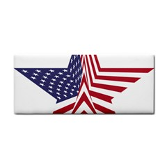 A Star With An American Flag Pattern Cosmetic Storage Cases