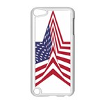 A Star With An American Flag Pattern Apple iPod Touch 5 Case (White) Front