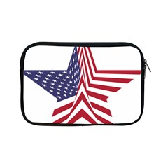 A Star With An American Flag Pattern Apple Ipad Mini Zipper Cases by Nexatart