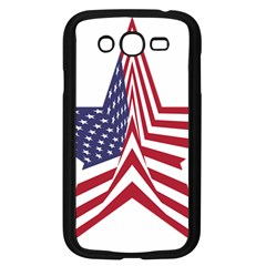 A Star With An American Flag Pattern Samsung Galaxy Grand Duos I9082 Case (black) by Nexatart