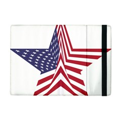 A Star With An American Flag Pattern Ipad Mini 2 Flip Cases