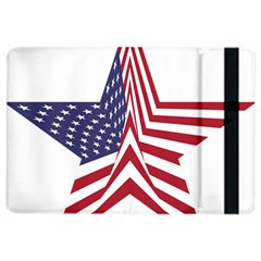 A Star With An American Flag Pattern Ipad Air 2 Flip by Nexatart