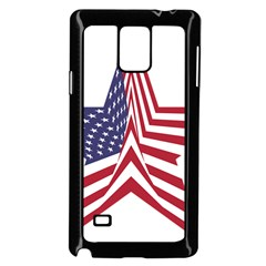 A Star With An American Flag Pattern Samsung Galaxy Note 4 Case (black)