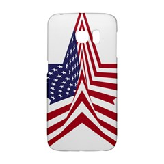 A Star With An American Flag Pattern Galaxy S6 Edge by Nexatart