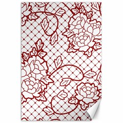 Transparent Decorative Lace With Roses Canvas 20  X 30   by Nexatart