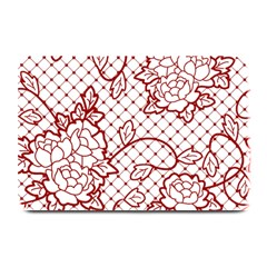 Transparent Decorative Lace With Roses Plate Mats by Nexatart