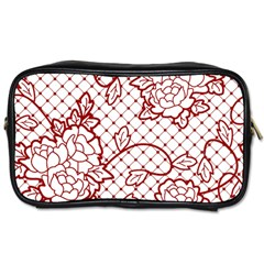 Transparent Decorative Lace With Roses Toiletries Bags 2 Side by Nexatart