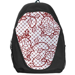 Transparent Decorative Lace With Roses Backpack Bag by Nexatart