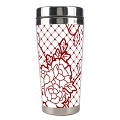Transparent Decorative Lace With Roses Stainless Steel Travel Tumblers by Nexatart