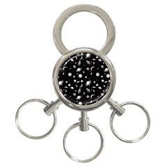 Space Pattern 3 Ring Key Chains by ValentinaDesign