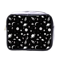 Space Pattern Mini Toiletries Bags by ValentinaDesign