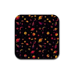 Space Pattern Rubber Coaster (square)  by ValentinaDesign