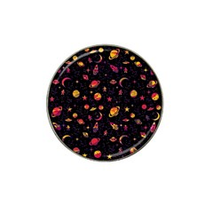 Space Pattern Hat Clip Ball Marker (10 Pack) by ValentinaDesign