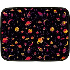 Space Pattern Fleece Blanket (mini) by ValentinaDesign