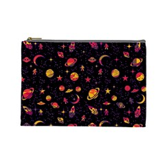 Space Pattern Cosmetic Bag (large)  by ValentinaDesign
