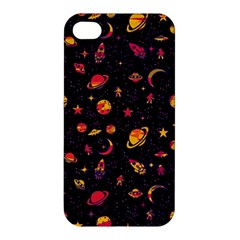 Space Pattern Apple Iphone 4/4s Hardshell Case by ValentinaDesign