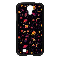 Space Pattern Samsung Galaxy S4 I9500/ I9505 Case (black) by ValentinaDesign