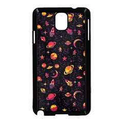 Space Pattern Samsung Galaxy Note 3 Neo Hardshell Case (black) by ValentinaDesign