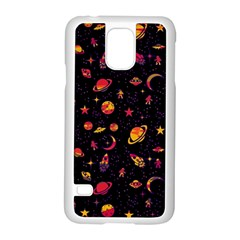 Space Pattern Samsung Galaxy S5 Case (white) by ValentinaDesign