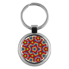 Penrose Tiling Key Chains (round)