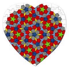 Penrose Tiling Jigsaw Puzzle (heart)
