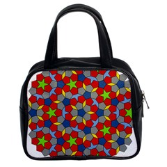 Penrose Tiling Classic Handbags (2 Sides) by Nexatart