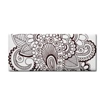 Henna Line Art Clipart Cosmetic Storage Cases Front