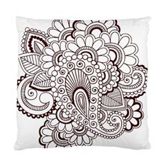 Henna Line Art Clipart Standard Cushion Case (two Sides)