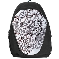 Henna Line Art Clipart Backpack Bag by Nexatart