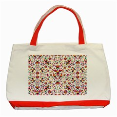 Otomi Vector Patterns On Behance Classic Tote Bag (red)