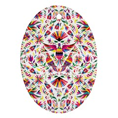 Otomi Vector Patterns On Behance Oval Ornament (two Sides) by Nexatart