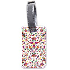 Otomi Vector Patterns On Behance Luggage Tags (one Side)  by Nexatart