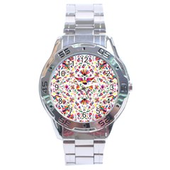 Otomi Vector Patterns On Behance Stainless Steel Analogue Watch by Nexatart