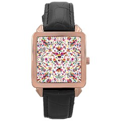 Otomi Vector Patterns On Behance Rose Gold Leather Watch