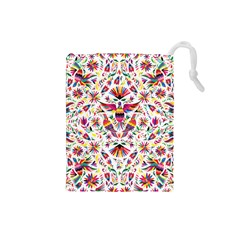 Otomi Vector Patterns On Behance Drawstring Pouches (small)  by Nexatart