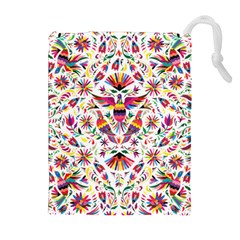 Otomi Vector Patterns On Behance Drawstring Pouches (extra Large) by Nexatart