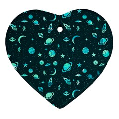 Space Pattern Ornament (heart) by ValentinaDesign