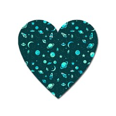 Space Pattern Heart Magnet by ValentinaDesign
