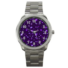 Space Pattern Sport Metal Watch by ValentinaDesign
