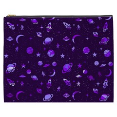 Space Pattern Cosmetic Bag (xxxl)  by ValentinaDesign