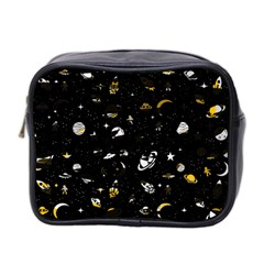 Space Pattern Mini Toiletries Bag 2 Side by ValentinaDesign
