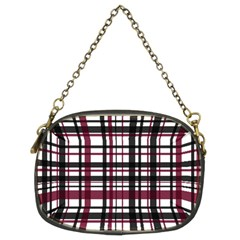 Plaid Pattern Chain Purses (two Sides)  by ValentinaDesign