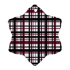 Plaid Pattern Ornament (snowflake) by ValentinaDesign