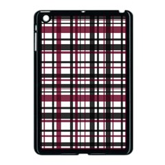 Plaid Pattern Apple Ipad Mini Case (black) by ValentinaDesign