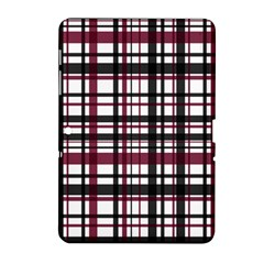 Plaid Pattern Samsung Galaxy Tab 2 (10 1 ) P5100 Hardshell Case  by ValentinaDesign